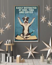 Dictracted By Dogs Yoga And Coffee Pit Bull 11x17 Poster lifestyle-holiday-poster-1