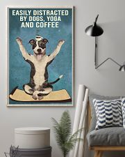 Dictracted By Dogs Yoga And Coffee Pit Bull 11x17 Poster lifestyle-poster-1
