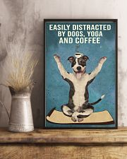 Dictracted By Dogs Yoga And Coffee Pit Bull 11x17 Poster lifestyle-poster-3