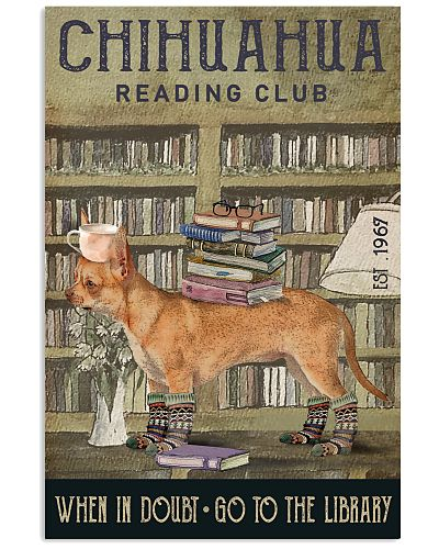 Reading Club When In Doubt Chihuahua