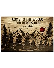 Come To The Woods For Here Is Rest Camping 24x16 Poster front