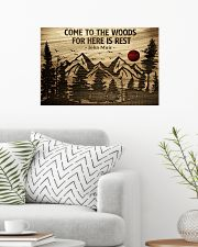 Come To The Woods For Here Is Rest Camping 24x16 Poster poster-landscape-24x16-lifestyle-01