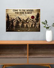 Come To The Woods For Here Is Rest Camping 24x16 Poster poster-landscape-24x16-lifestyle-25