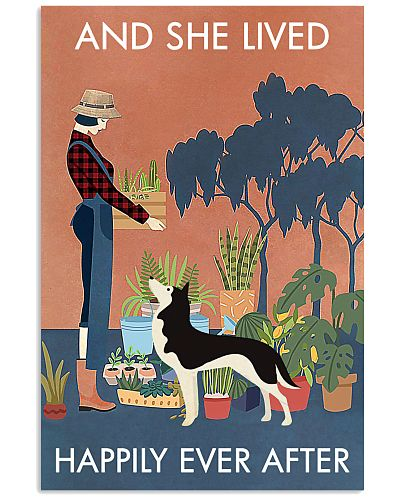 Vintage And She Lived Happily Gardening Husky