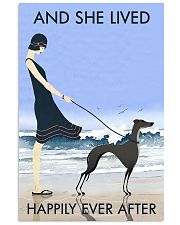 Beach And Dog Greyhound 11x17 Poster front