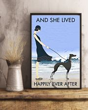 Beach And Dog Greyhound 11x17 Poster lifestyle-poster-3