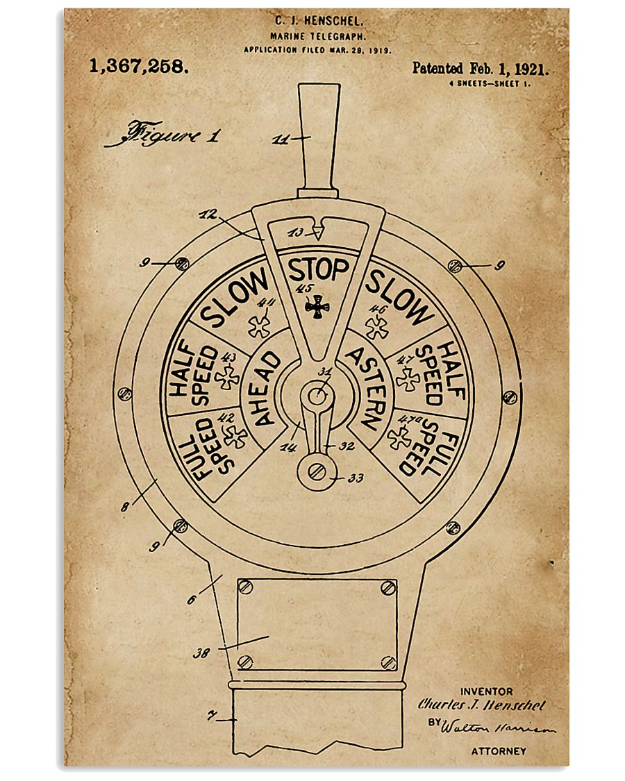 Boat's Speed Telegraph Patent Sailor 11x17 Poster