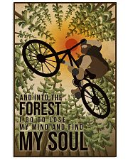 Retro And Into The Forest Mountain Bike 11x17 Poster front