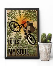 Retro And Into The Forest Mountain Bike 11x17 Poster lifestyle-poster-8