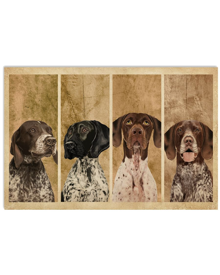 Vintage Four German Shorthaired Pointer 24x16 Poster