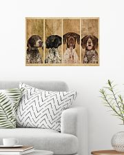 Vintage Four German Shorthaired Pointer 24x16 Poster poster-landscape-24x16-lifestyle-01