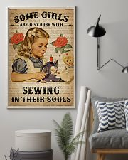 Vintage Dictionary Just Born Sewing Girl 11x17 Poster lifestyle-poster-1