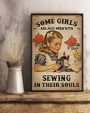 Vintage Dictionary Just Born Sewing Girl 11x17 Poster lifestyle-poster-3