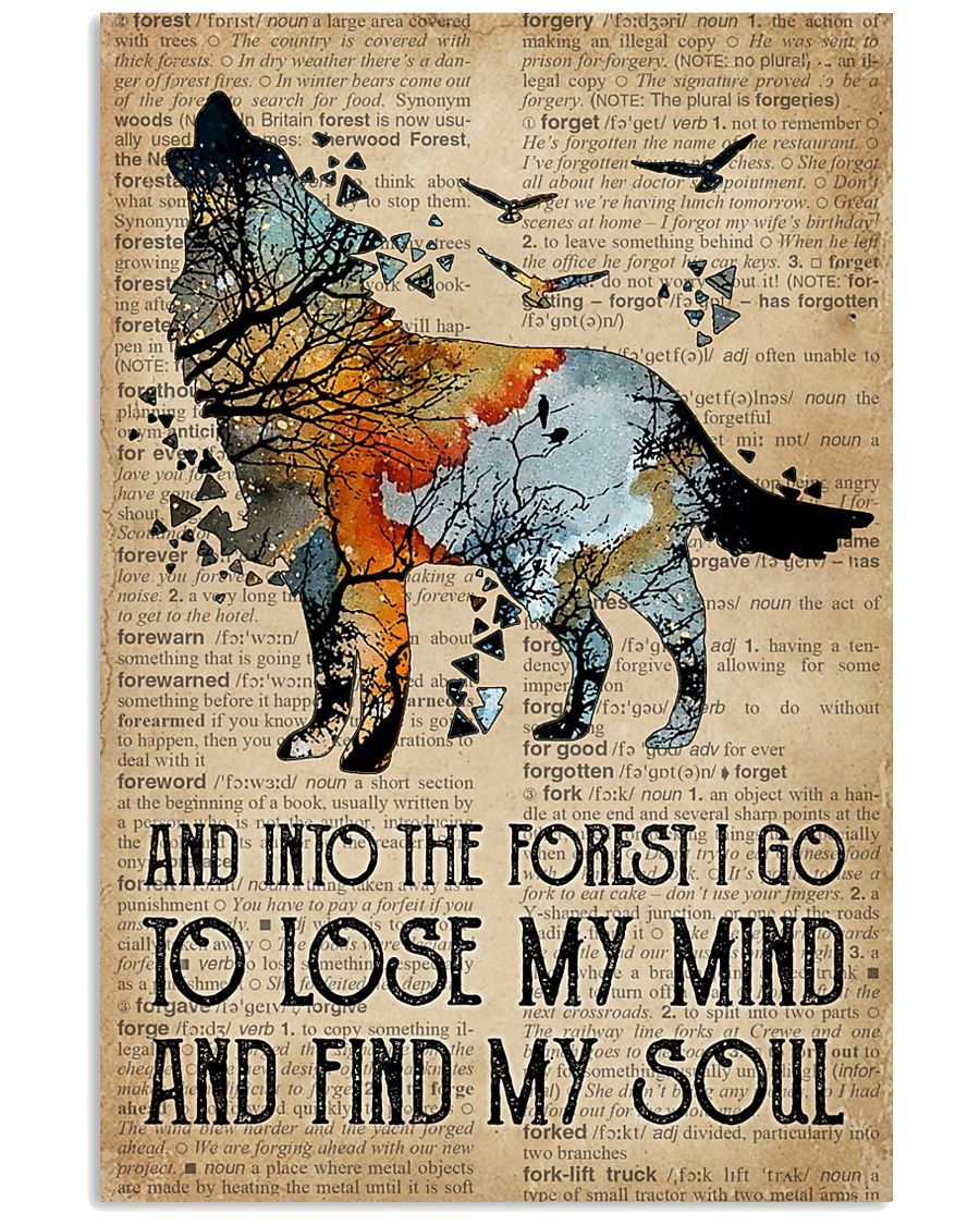 Blue Earth Dictionary Find My Soul Wolf 16x24 Poster