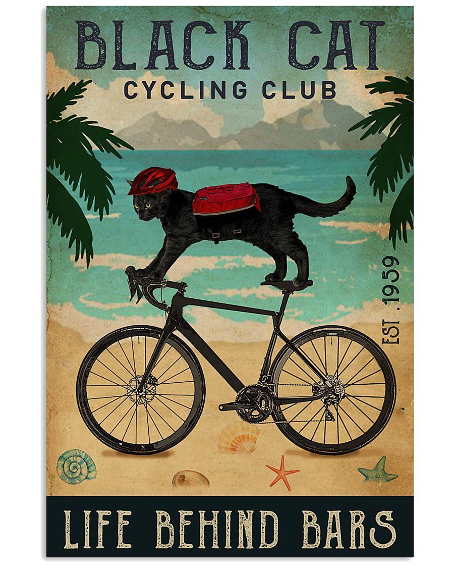 Cycling Club Black Cat 11x17 Poster