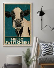 Retro Hello Sweet Cheeks Cow 16x24 Poster lifestyle-poster-1