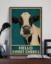 Retro Hello Sweet Cheeks Cow 16x24 Poster lifestyle-poster-2