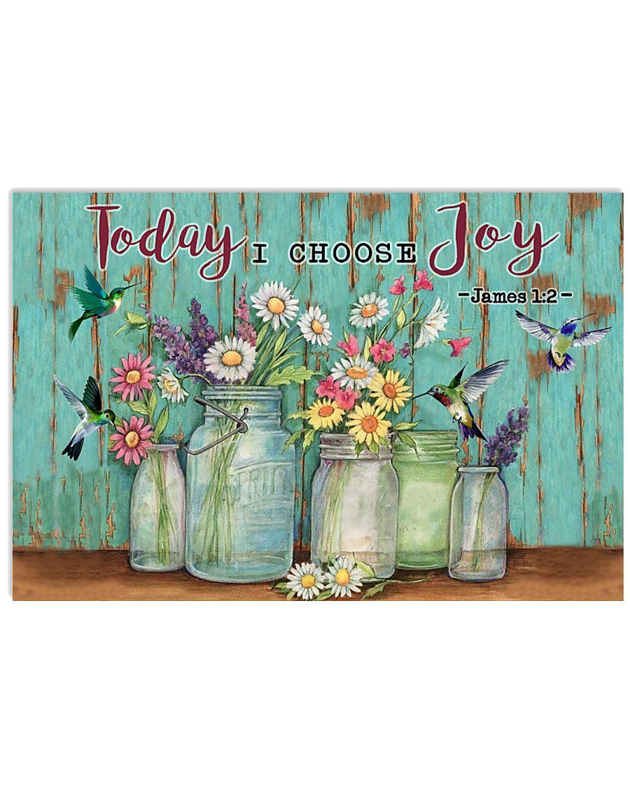 Green Pallet Hummingbird Today I Choose Joy 17x11 Poster