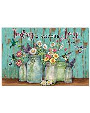 Green Pallet Hummingbird Today I Choose Joy 17x11 Poster front