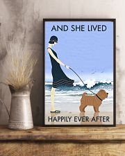 Beach And Dog Shar Pei 11x17 Poster lifestyle-poster-3