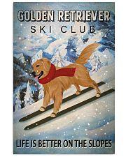 Ski Club Golden Retriever 16x24 Poster front