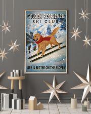 Ski Club Golden Retriever 16x24 Poster lifestyle-holiday-poster-1