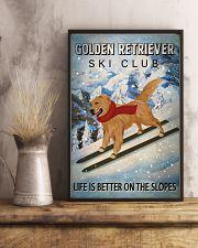 Ski Club Golden Retriever 16x24 Poster lifestyle-poster-3