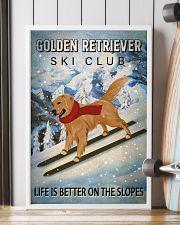 Ski Club Golden Retriever 16x24 Poster lifestyle-poster-4