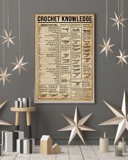 Crochet Knowledge Stitch Guide 16x24 Poster lifestyle-holiday-poster-1