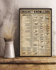 Crochet Knowledge Stitch Guide 16x24 Poster lifestyle-poster-3