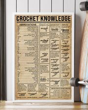 Crochet Knowledge Stitch Guide 16x24 Poster lifestyle-poster-4