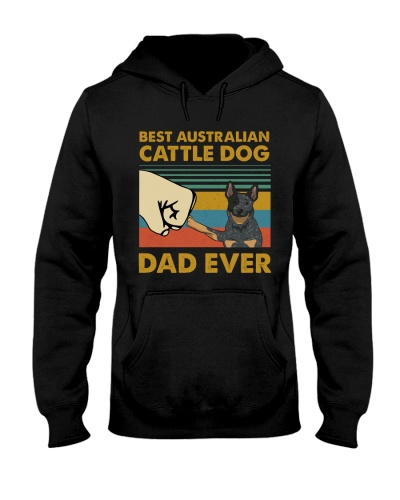 Retro Blue Best Australian Cattle Dog Dad Ever