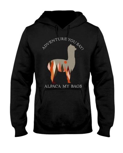 Geometric Mountains Alpaca