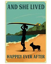 Vintage She Lived Happily Surfing French Bulldog 11x17 Poster front