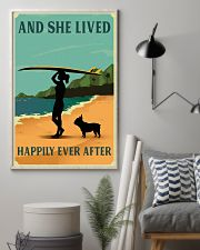 Vintage She Lived Happily Surfing French Bulldog 11x17 Poster lifestyle-poster-1