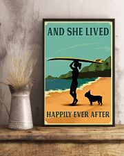 Vintage She Lived Happily Surfing French Bulldog 11x17 Poster lifestyle-poster-3