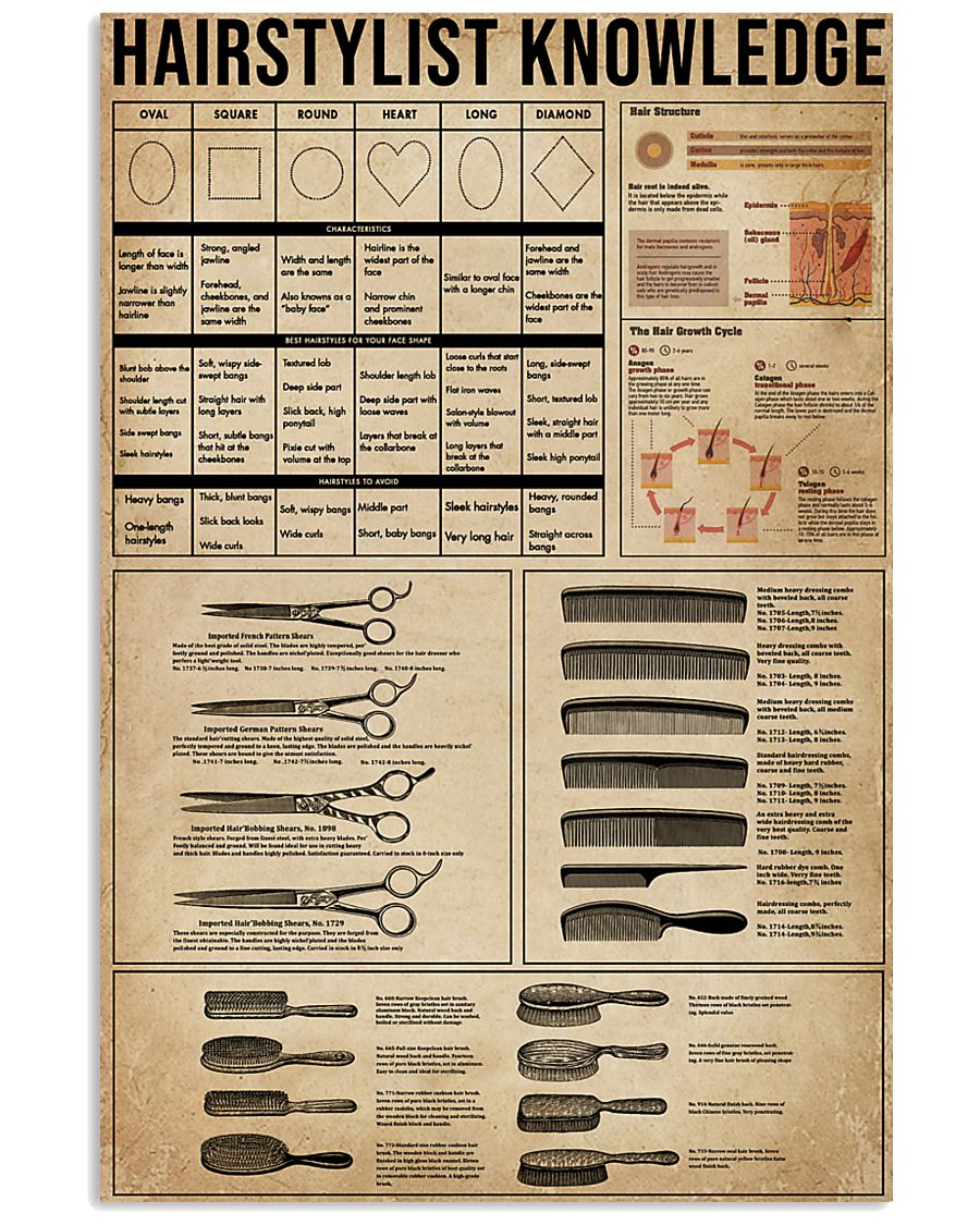 Knowledge Hairstylist 11x17 Poster
