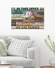 Nurse In This Office We Do Team Work 24x16 Poster poster-landscape-24x16-lifestyle-01