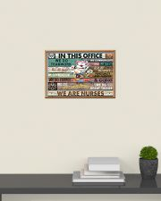 Nurse In This Office We Do Team Work 24x16 Poster poster-landscape-24x16-lifestyle-09