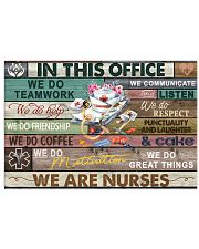 Nurse In This Office We Do Team Work 17x11 Poster front