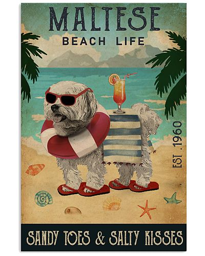Vintage Beach Cocktail Life Maltese