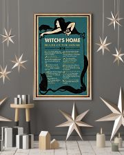 Retro Green Witch House Rules 11x17 Poster lifestyle-holiday-poster-1