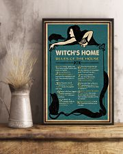 Retro Green Witch House Rules 11x17 Poster lifestyle-poster-3