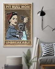 Unbreakable Pit bull Tattoo Girl 11x17 Poster lifestyle-poster-1
