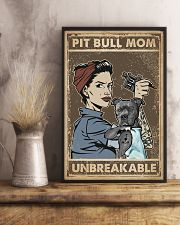 Unbreakable Pit bull Tattoo Girl 11x17 Poster lifestyle-poster-3