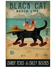 Beach Life Sandy Toes Black Cat 11x17 Poster front