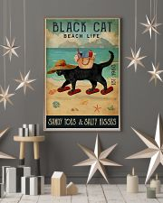 Beach Life Sandy Toes Black Cat 11x17 Poster lifestyle-holiday-poster-1