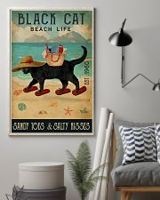 Beach Life Sandy Toes Black Cat 11x17 Poster lifestyle-poster-1