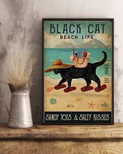 Beach Life Sandy Toes Black Cat 11x17 Poster lifestyle-poster-3