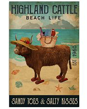 Beach Life Sandy Toes Highland Cattle 11x17 Poster front